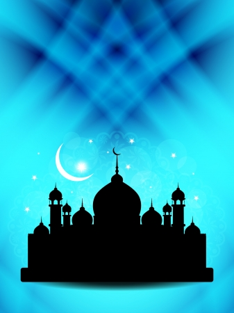 feter: Artistic religious eid background with mosque