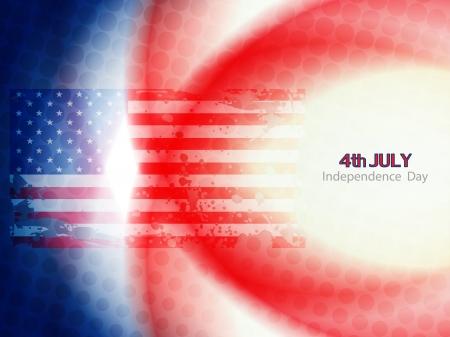 american flag theme background design Vector