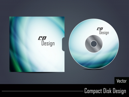 CD cover design Vector