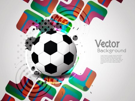 creative football background with colorful modern design