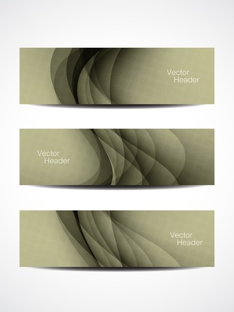 set of beautiful header designs  Stock Vector - 20854330