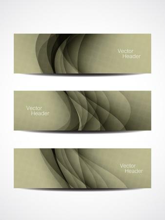 website layout: set of beautiful header designs