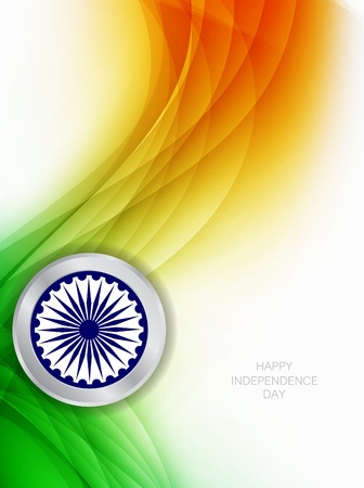 indian flag: Beautiful Indian flag theme background design Illustration
