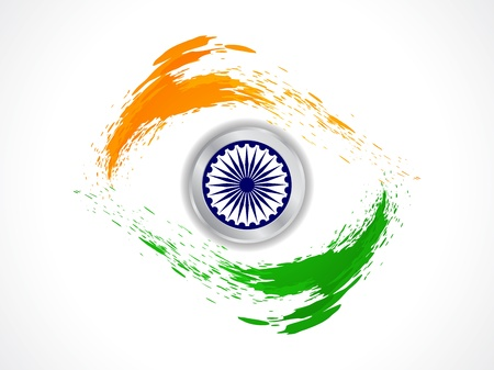 Beautiful Indian flag theme background design Stock Vector - 20854347