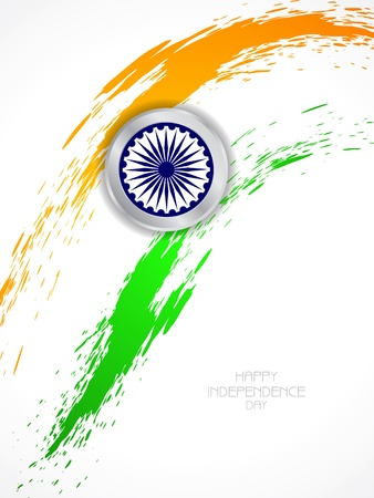 Beautiful Indian flag theme background design Vector