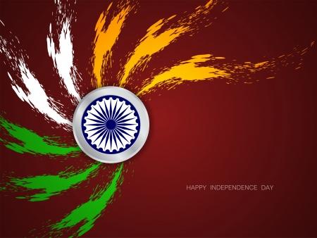 agosto: Bella bandiera indiana tema di sfondo di progettazione