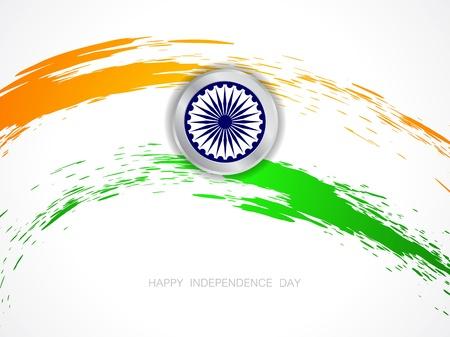 Beautiful Indian flag theme background design Illustration