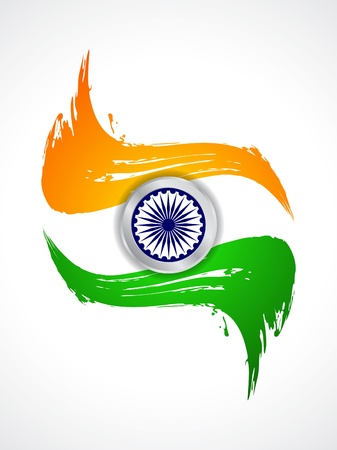 15 august: Beautiful Indian flag theme background design Illustration