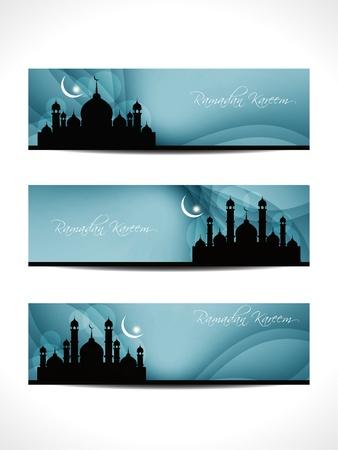 рамадан: религиозная заголовка или баннер для рамадана и Ид