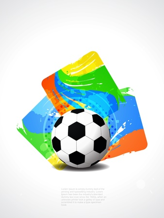 creative football background with colorful modern design   Stock Vector - 21299185