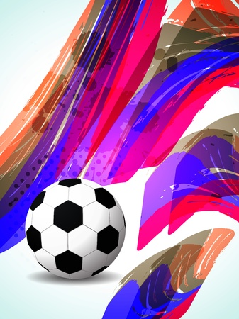 creative football background with colorful modern design   Stock Vector - 21299191