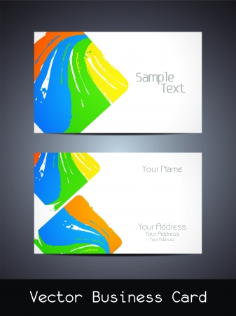 Presentation of visiting card design Vector