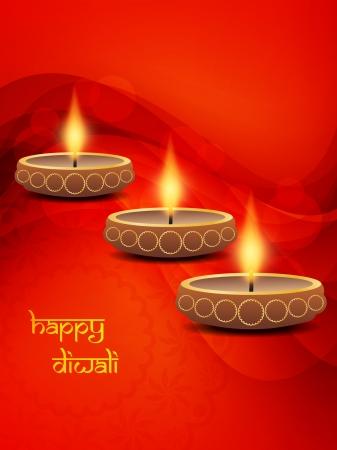 elegant background design for diwali festival  Vector