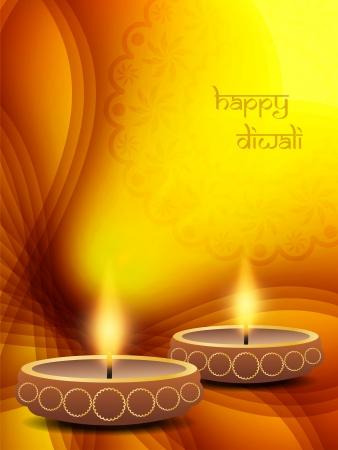 indian light: elegant background design for diwali festival