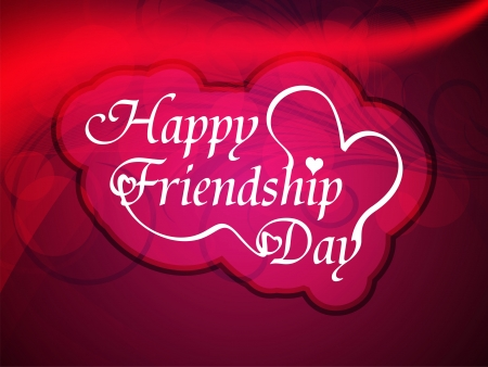 friendship day: Beautiful friendship day design Illustration