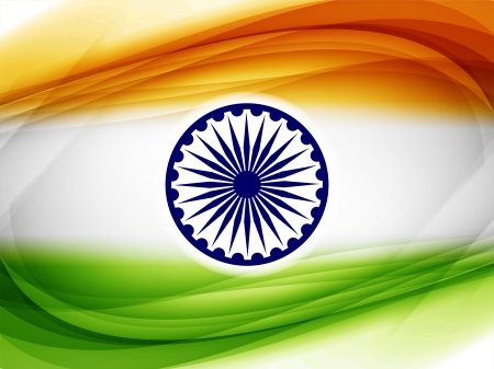 Beautiful Indian flag design Vector