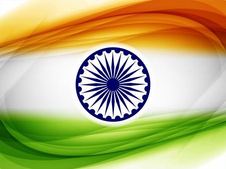 agosto: Bello disegno bandiera indiana
