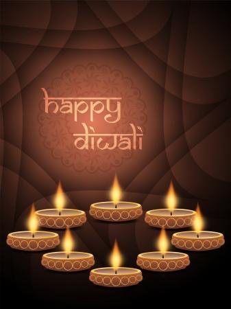 hinduismo: Dise?o de fondo elegante para el festival de Diwali