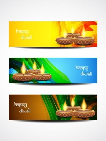 worship god: beautiful diwali headers Illustration