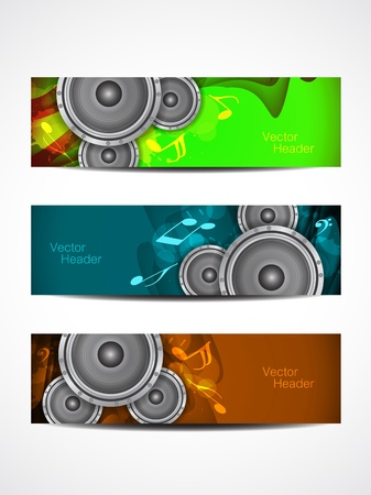 music headers Stock Vector - 21299293