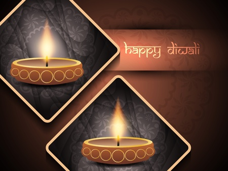 elegant background design for diwali festival  Vector