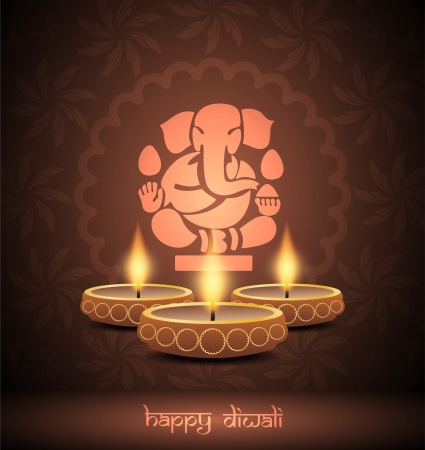 elegant background design for diwali festival  Stock Vector - 21636143