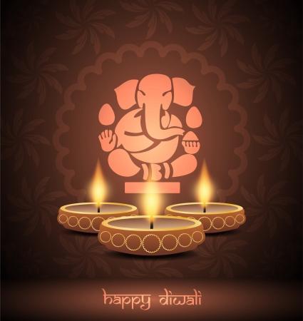 elegant background design for diwali festival Stock Vector - 21636143