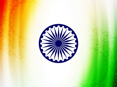 green flag: Beautiful Indian flag design