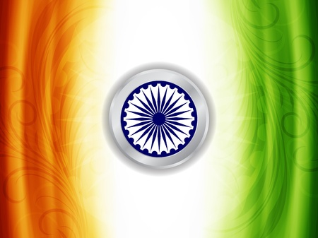 Beautiful Indian flag design Stock Vector - 21636153