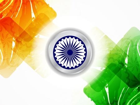 Beautiful Indian flag design Stock Vector - 21636154
