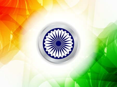 Beautiful Indian flag design Stock Vector - 21636155