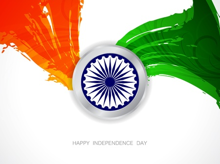 Beautiful Indian flag design Stock Vector - 21636156
