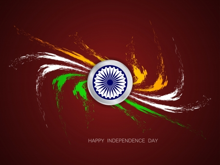 Beautiful Indian flag design Stock Vector - 21636158