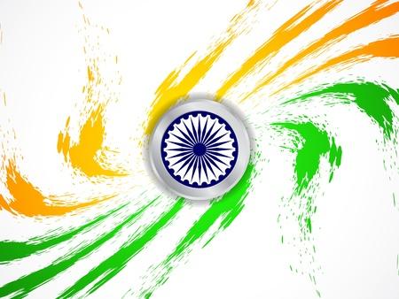 Beautiful Indian flag design Stock Vector - 21636160