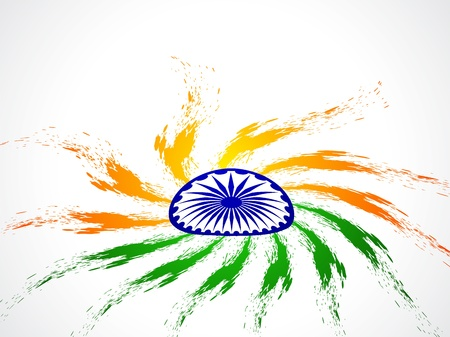 Beautiful Indian flag design Stock Vector - 21636201
