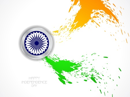 Beautiful Indian flag design Stock Vector - 21636202