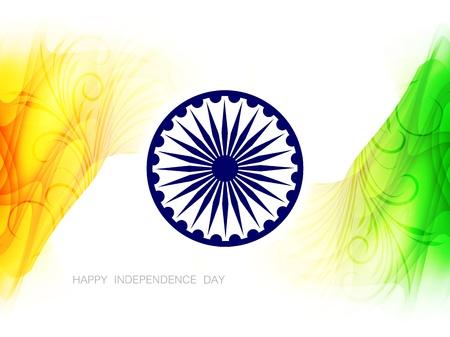 Beautiful Indian flag design Stock Vector - 21636204
