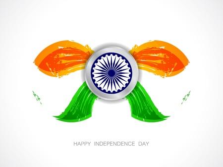 Beautiful Indian flag design Stock Vector - 21636217
