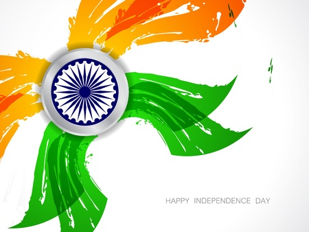 Beautiful Indian flag design Stock Vector - 21636218