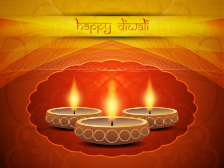 Beautiful background design for Diwali Vector