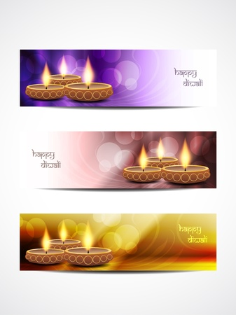 beautiful diwali headers Vector