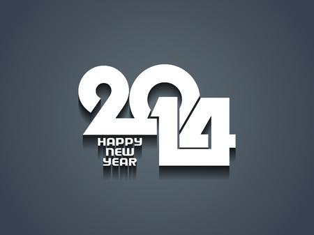 sylwester: creative szczęśliwego nowego roku 2014 projekt Ilustracja