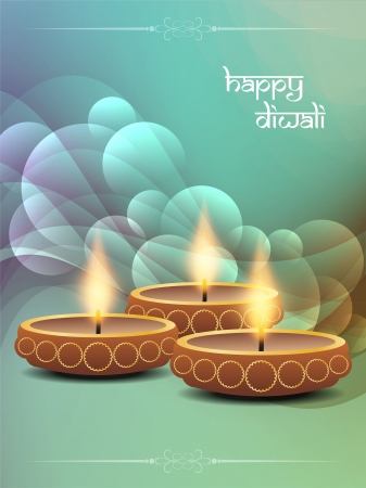 religious background design for Diwali  Stock Vector - 21810985