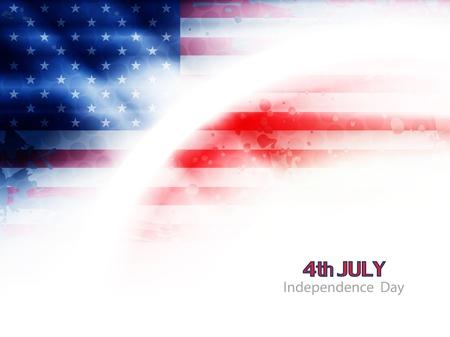 July 4: american flag theme background design Illustration