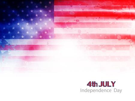 patriotic american: american flag theme background design Illustration