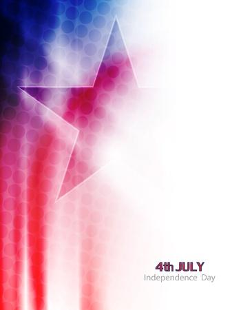 patriotic america: american flag theme background design Illustration