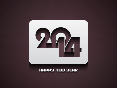 Elegant happy new year 2014 design  Stock Vector - 22176515