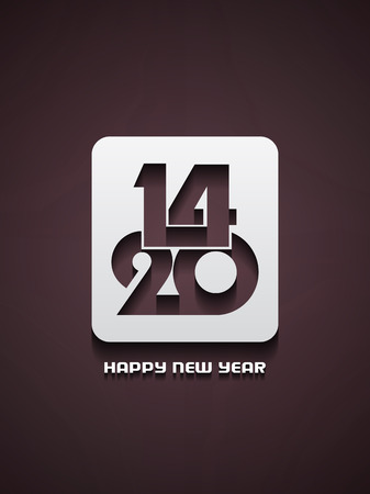 Elegant happy new year 2014 design  Stock Vector - 22401964