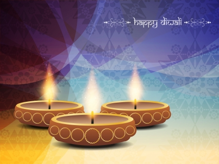 religious background design for Diwali  Ilustrace