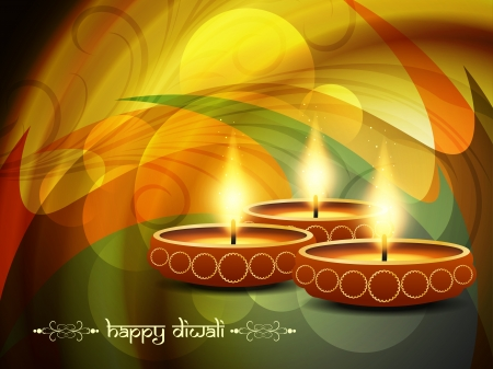 religious background design for Diwali  Illustration